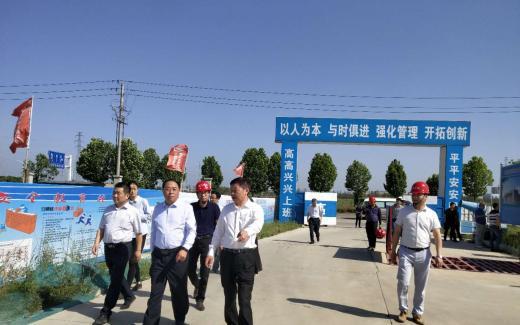 章松带队调研亚博体育ios版新能源汽车动力电池工业厂房